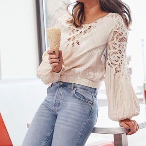 Free People Floating Memories Blouse